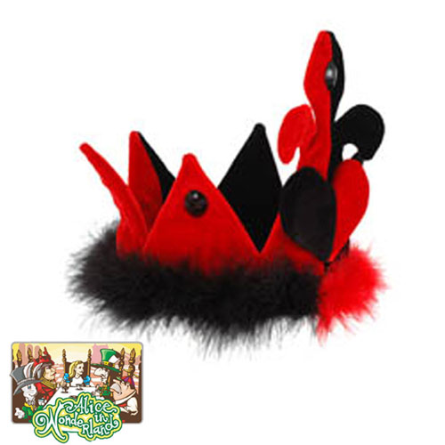 Elope 19462 Alice in Wonderland - Classic Queen of Hearts Crown