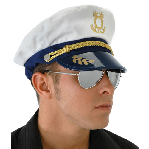 Elope 151106 Captain Hat With Cotton Pvc Materal