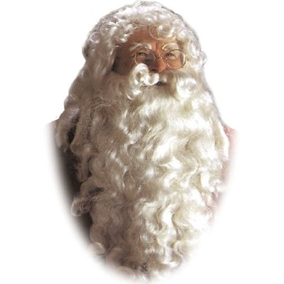 Halco 102717 Christmas Party - Santa Wig and Beard Deluxe