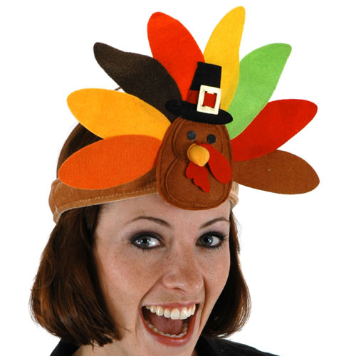 Elope 151125 Turkey Headband With Felt Velvet Material