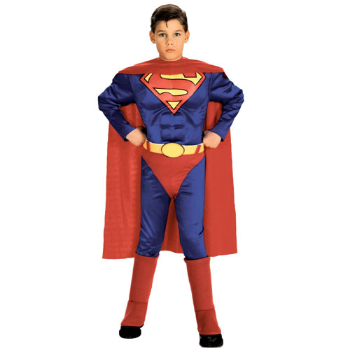 Rubies Costume Co 6384 Superman with Chest Child Costume Size Small- Boys 4-6 BUYS8093