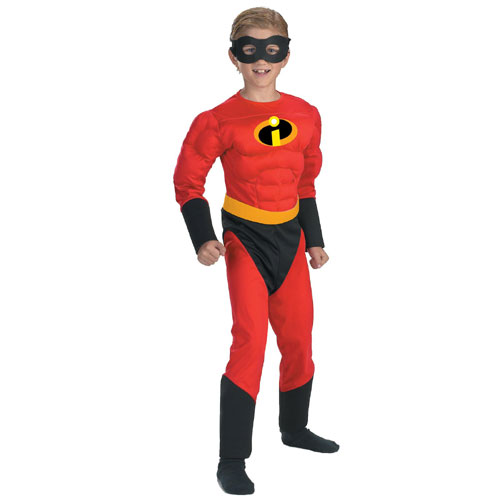 Disguise Inc 17080 Mr. Incredible Muscle Child Costume- Size 4-6 BUYS8198
