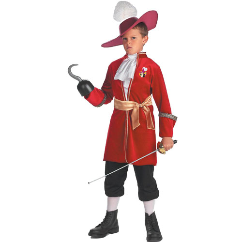 Disguise Inc 17102 Peter Pan Disney Captain Hook Child Costume- Size 7-8
