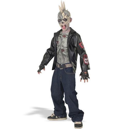 Rubies Costume Co 18777 Punk Zombie Child Costume Size Medium-  Size 8-10