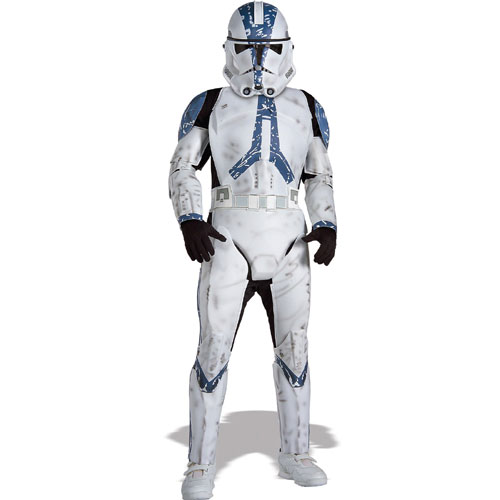 Rubies Costume Co 21069 Star Wars Clone Trooper Deluxe Child Costume Size Medium- Boys 8-10 BUYS8429