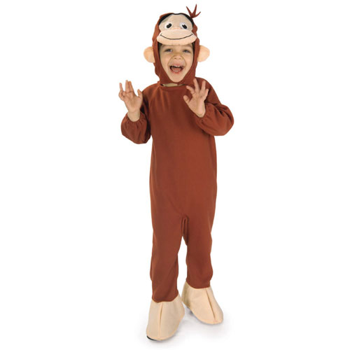 Rubies Costume Co 27277 Curious George Child Costume Toddler- Boys 2-4