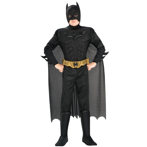 Rubies Costume Co 32965 Batman Dark Knight Deluxe Muscle Chest Batman Child Costume Size Small- Boys 4-6 BUYS8890