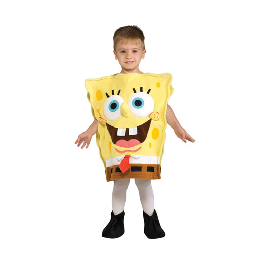 Rubies Costume Co 33190 SpongeBob Squarepants Deluxe SpongeBob Child Costume Size Small- Boys 4-6 BUYS9003