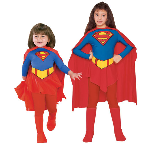 Rubies Costume Co 7127 Supergirl Child Costume Size Medium- Girls 8-10 BUYS9261