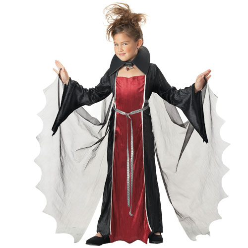 California Costume Collection 20614 Vampire Girl Child Costume Size Medium-  Size 8-10