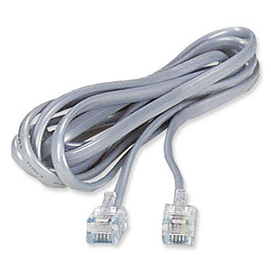 6p6c Modular Flat Cable  Straight  7ft