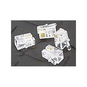 Generic 180 0470 Handset 4P4C Modular Plugs 100 Pack - Clear