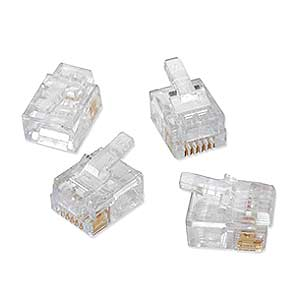 Platinum Tools 180 0599 50Pcs Ez-RJ11/12 Connectors