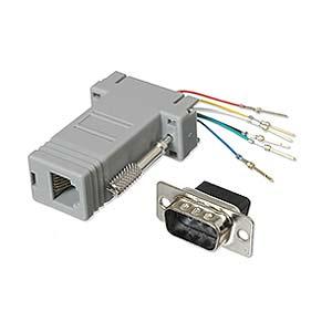 Ziotek 131 2010 Modular Adapter DB9 M to RJ11/RJ12