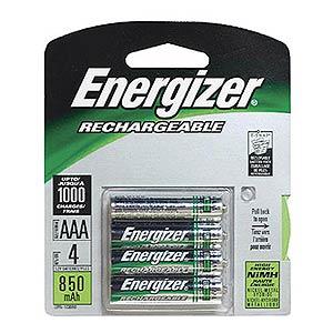 Energizer Rechargeable AAA Batteries  900mah  4pk