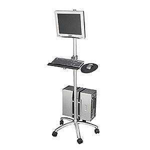 Aluminum Mobile Computing Workstation Cart