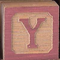 Maple Landmark 30025 VT COUNTRY BLOCKS LETTER BLOCKS Y