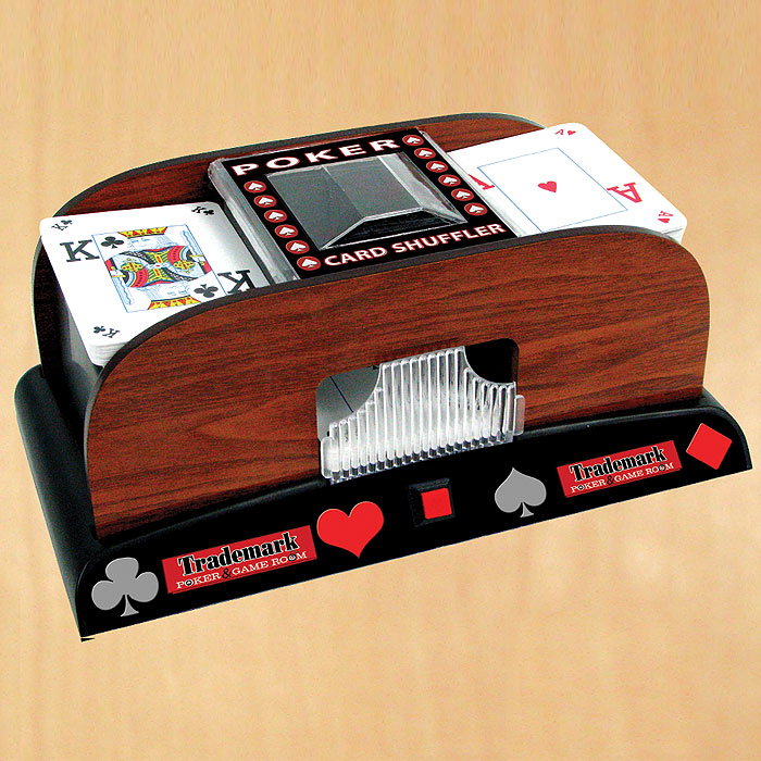 Wooden Card Shuffler POKER10001