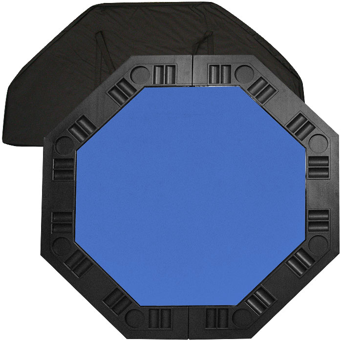 8 Player Octagonal Table top - Blue - 48 inch