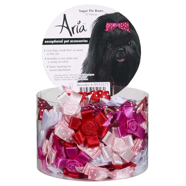 Aria ar-bo with sgpie-15 15 Count - Sugar Pie Dog Grooming Bows