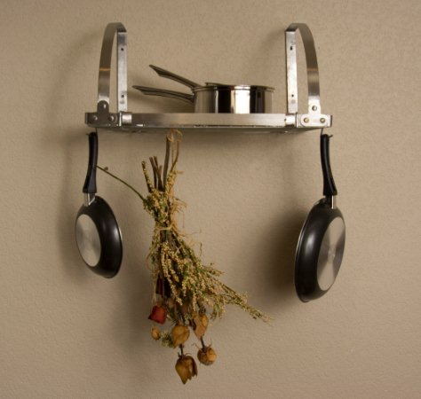 Image of Advantage Components SWR2001 Expandable Wall Mount Pot Rack / Shelf Stainless Steel