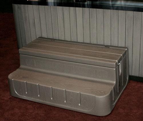 Step  n Stow 6130337 Concept 1 Spa Steps - Smoke Gray