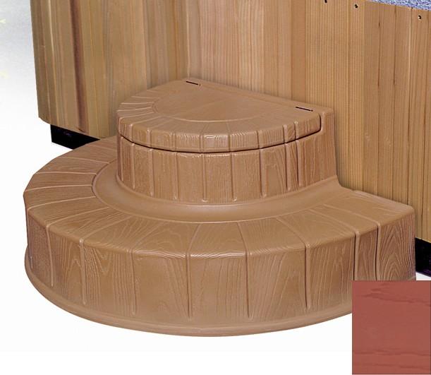Step  n Stow 6130327 Concept 2 Spa Steps - Dark Redwood