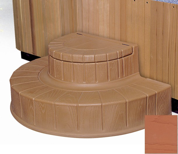 Step  n Stow 6130324 Concept 2 Spa Steps - Light Redwood