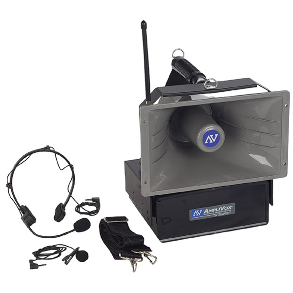 Amplivox SW610A Wireless Half-Mile Hailer - With Wired & Wireless Mic