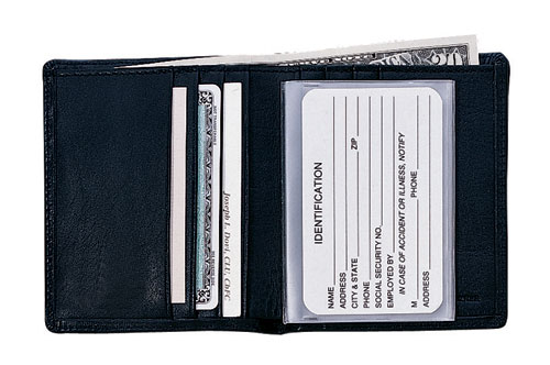 Royce Leather 102-BLACK-5 Men s Two-Fold Wallet - Black