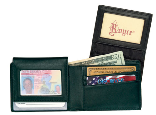 Royce Leather 104-BLACK-5 Men s Removable ID Pass Case Wallet - Black