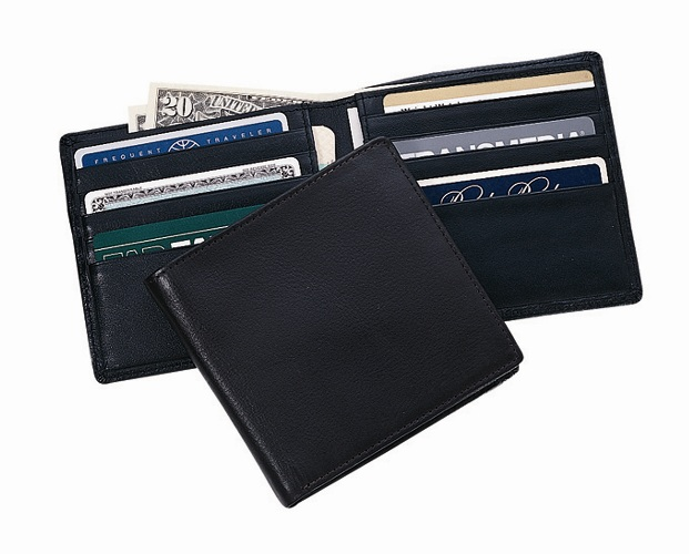 Royce Leather 106-BLACK-5 Hipster Wallet - Black