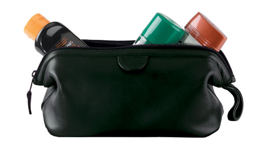 Royce Leather 265-BLACK-5 Deluxe Toiletry Bag - Black