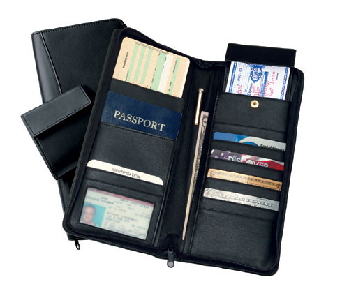 Royce Leather 332-BLACK-5 International Expanded All Nappa Cowhide Document Case - Black