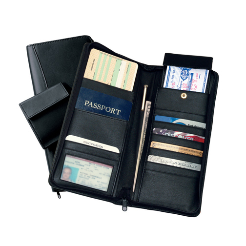 Royce Leather 332-BLACK-11 International Expanded Document Case - Black