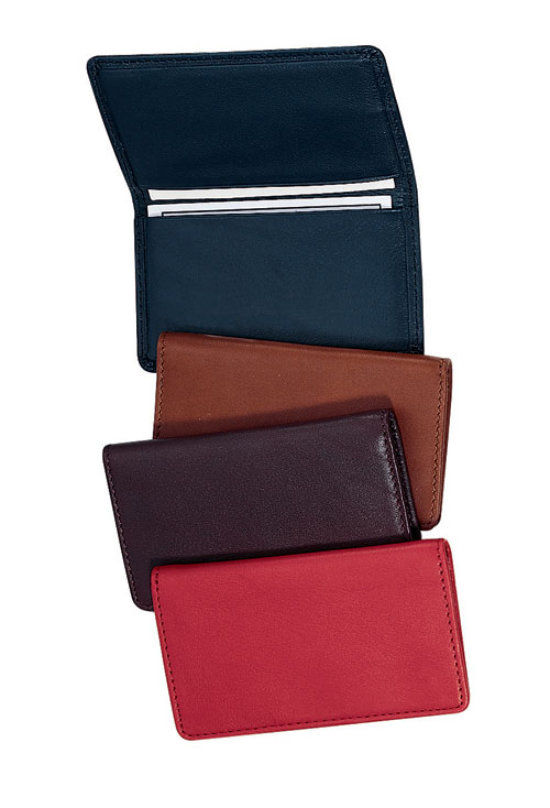 Royce Leather 401-BLACK-5 Business Card Case - Black
