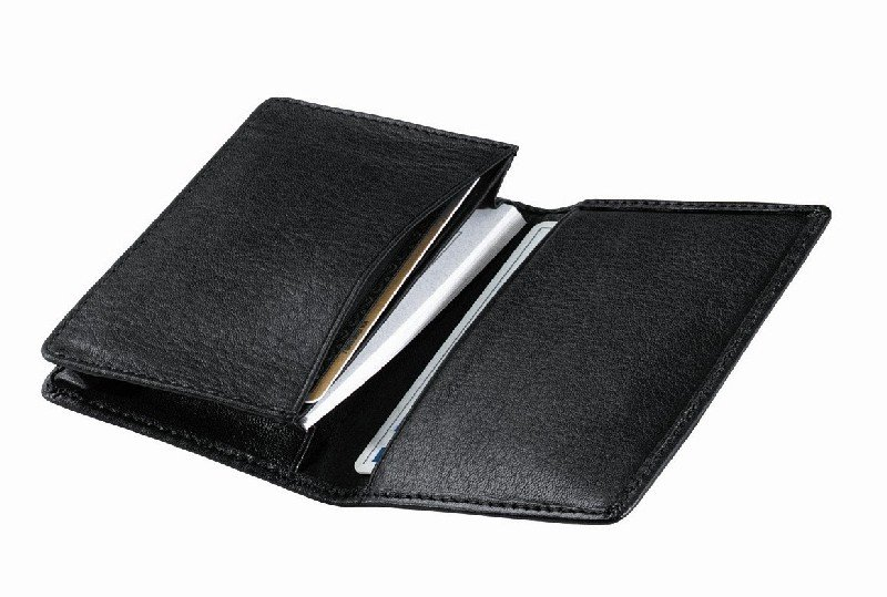 Royce Leather 404-BLACK-5 Deluxe Business Card Case - Black