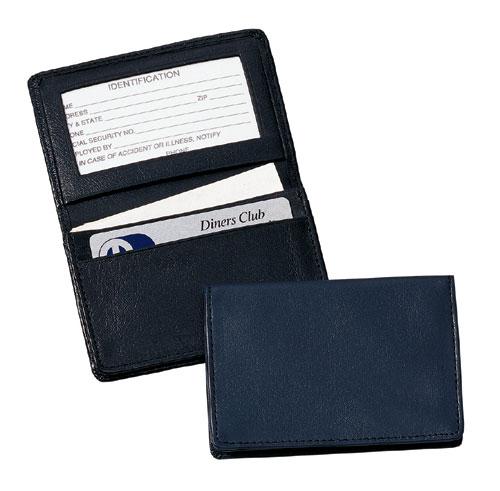 Royce Leather 405-BLACK-5 Deluxe Card Holder - Black