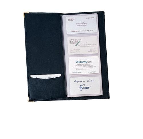 Royce Leather 410-BLACK-5 Business Card File - Black