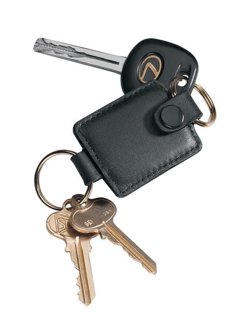 Royce Leather 610-BLACK-5 Valet Key Fob - Black