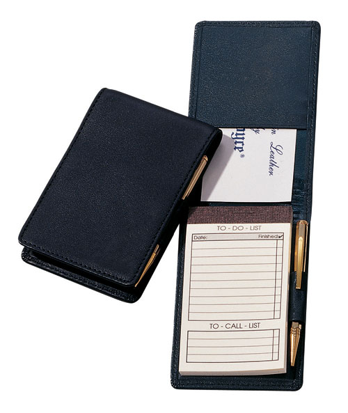 Royce Leather 710-BLACK-5 Deluxe Flip Style Note Jotter - Black