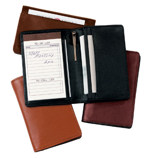 Royce Leather 725-BLACK-5 Deluxe Note Jotter Organizer - Black