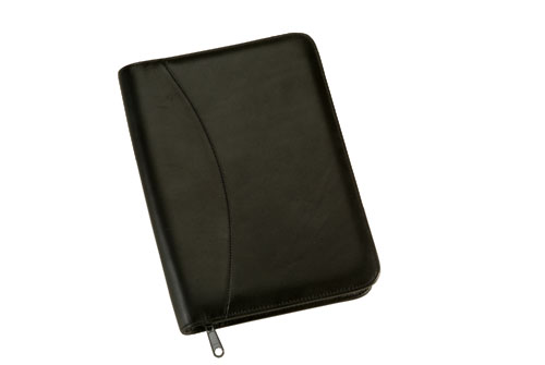 Royce Leather 742-BLACK-5 Zip Around Jr. Writing Padfolio - Black