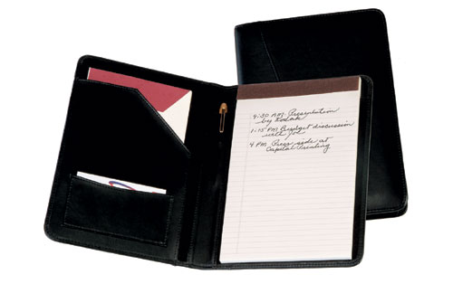 Royce Leather 743-BLACK-5 Jr. Writing Padfolio - Black