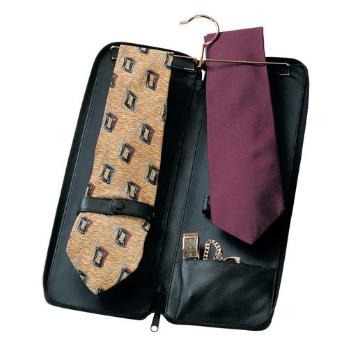 Royce Leather 900-BLACK-5 Deluxe Tie Case - Black