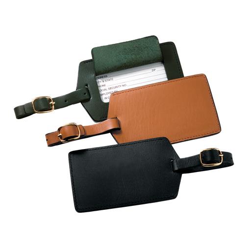 Royce Leather 950-BLACK-5 Luggage Tag - Black