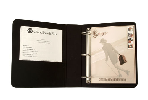 Royce Leather 300-BLACK-8 2 Inch D Ring Binder - Black