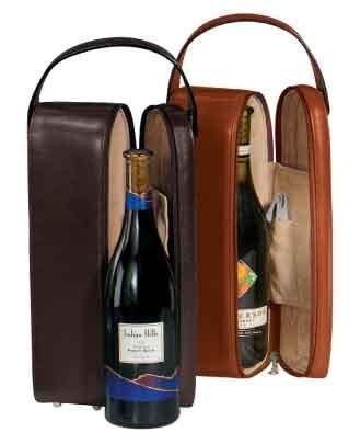 Royce Leather 621-BLACK-6 Single Wine Presentation Case - Black