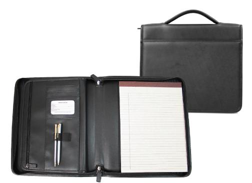 Royce Leather 741-BLACK-6 Executive Brief Padfolio - Black