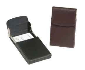 Royce Leather 423-BROWN-5 Vertical Framed Card Case - Brown